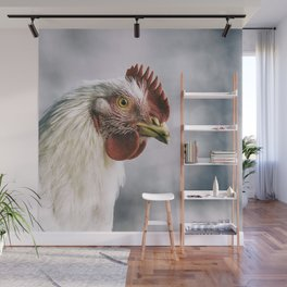 The white rooster Wall Mural