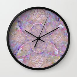 Merkaba In The Garden Of Eden Wall Clock