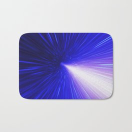 High energy particles traveling through space-time Bath Mat