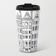 Amsterdam Canal Houses Sketch Travel Mug