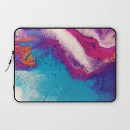 Abstract Acrylic Paint Pattern Texture #2 - Blue, Purple, Orange Laptop Sleeve