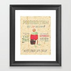 Proribbition Framed Art Print