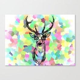 Deer are people too Canvas Print