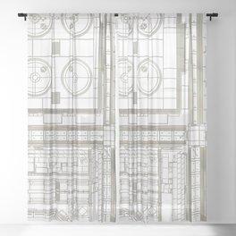 plan study #1 Sheer Curtain