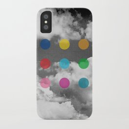 Storm Clouds + Colored Dots iPhone Case