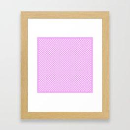 Tiny Paw Prints Pretty Pink Pattern Framed Art Print
