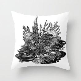 Hidden Cuttlefish Throw Pillow