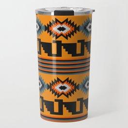 Geometric with colorful stripes Travel Mug