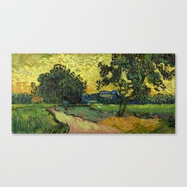 Vincent Van Gogh : Landscape at Twilight Canvas Print