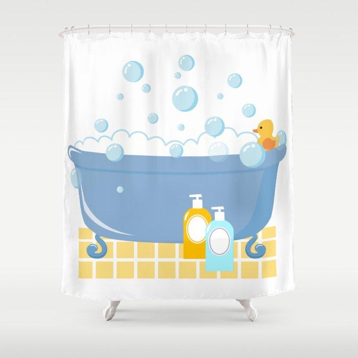 Bubble Bath Tub Shower Curtain