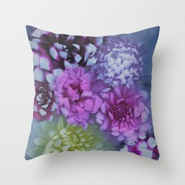 Drenched in Dahlia #2 Throw Pillow