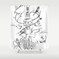 poland Shower Curtains featuring O'Prime Zielona Góra Poland by O'Prime