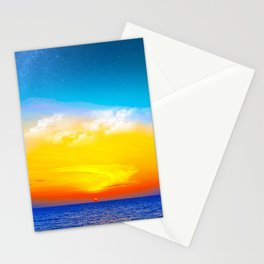 Beautiful Colorful Ocean Sunset Stationery Cards