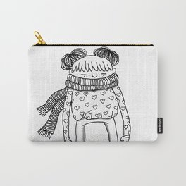 Betty in black and white Carry-All Pouch