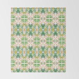 Tiki palms Throw Blanket