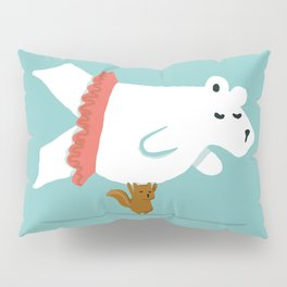 You Lift Me Up - Polar bear doing ballet Pillow Sham