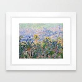Claude Monet Palm Trees at Bordighera Framed Art Print