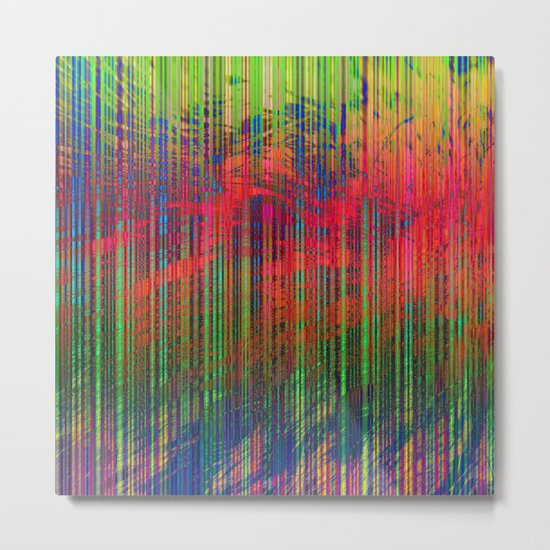 Colorful Abstract Lines Metal Print