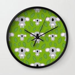 Cute koala bears Wall Clock
