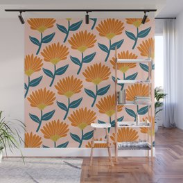 Floral_pattern Wall Mural