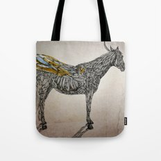 Feather Horse  Tote Bag