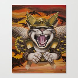 Hawk cats, DIVE! Canvas Print