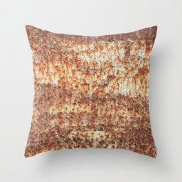 Wabi-sabi sheet of metal Throw Pillow