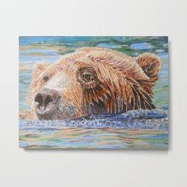 Brown Bear Columbus Zoo Metal Print