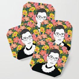 Ruth Bader Ginsburg Floral Coaster