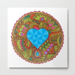 LOVE grows heart lake Metal Print
