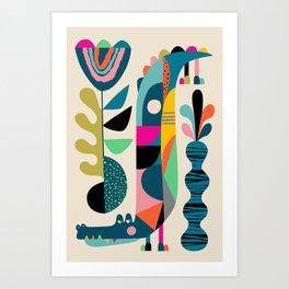 Mr crocodile Art Print