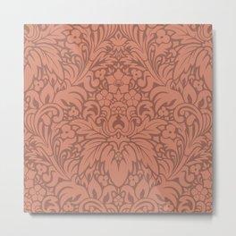 Odyssey Mandala Apricot Backdrop Metal Print