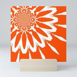 The Modern Flower Orange Mini Art Print