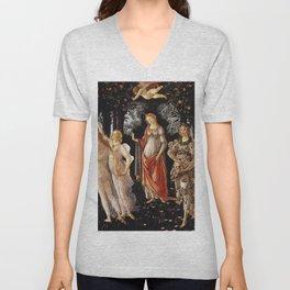 Primavera, Botticelli Unisex V-Neck