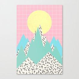 Memphis Mountains Canvas Print