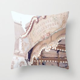 Classic Paris French Carousel Throw Pillow