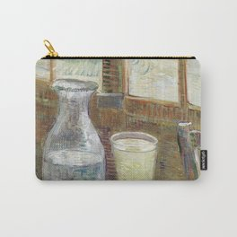1887-Vincent van Gogh-Café table with absinth-33x46 Carry-All Pouch