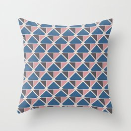 Retro Geometry surface pattern (Pink-blue small) Throw Pillow