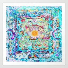 Pink Dakini Mandala Art Print