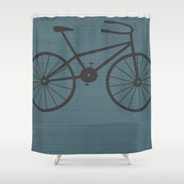 Grey Bike by Friztin Shower Curtain