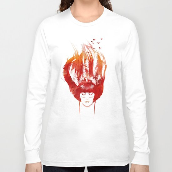 Burning Forest Long Sleeve T-shirt