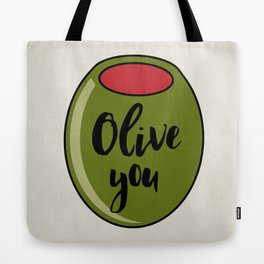 Olive You I Love You Funny Cute Valentine's Day Art Tote Bag