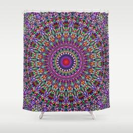 Vivid Lace Ornament Mandala Shower Curtain