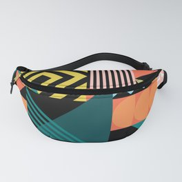 Colorful geometric patchwork pattern Fanny Pack
