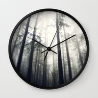 abyss Wall Clocks featuring Abyss by Aida Gradina