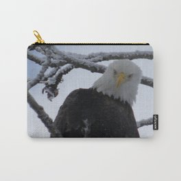 Bald Eagle at 12 Below -- Soldotna, Alaska Carry-All Pouch