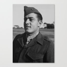 John Basilone wearing The Medal of Honor Canvas Print