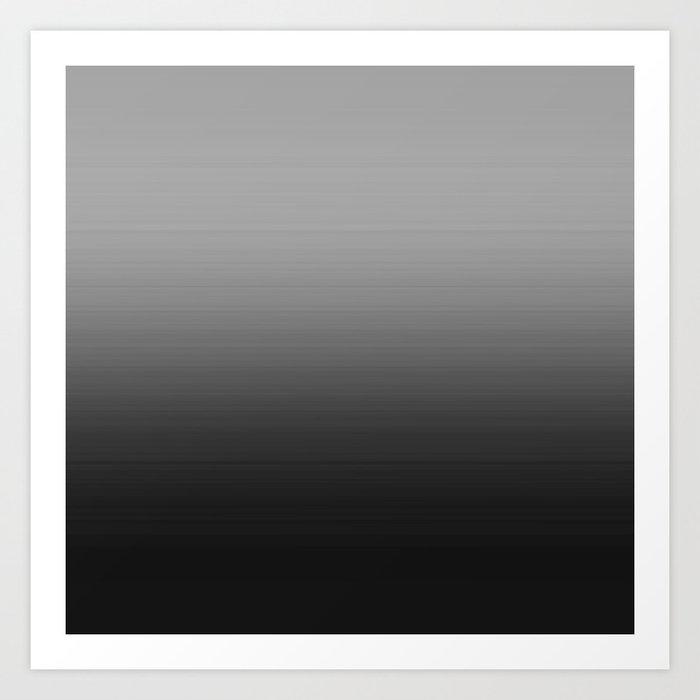 Gray Black Ombre Kunstdrucke