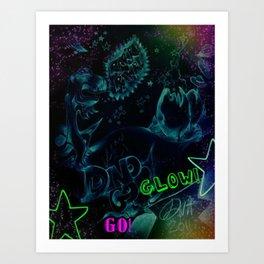 DINOGO GO! GLOW! Art Print