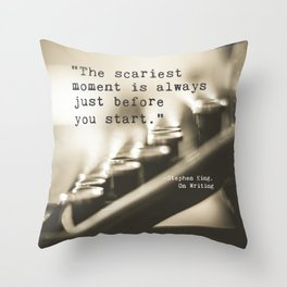 The Scariest Moment Throw Pillow